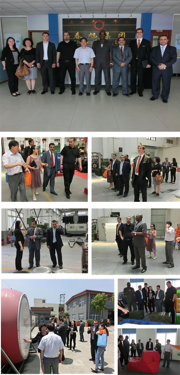 Ambassadors from seven countries visited our company